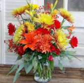 Alluring Autumn  Vase Arrangement