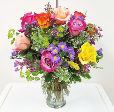 A Colorful Dozen Vase Arrangement