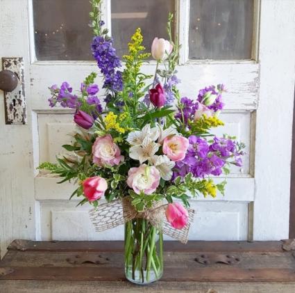 The Brenda Bouquet  Vase Arrangement