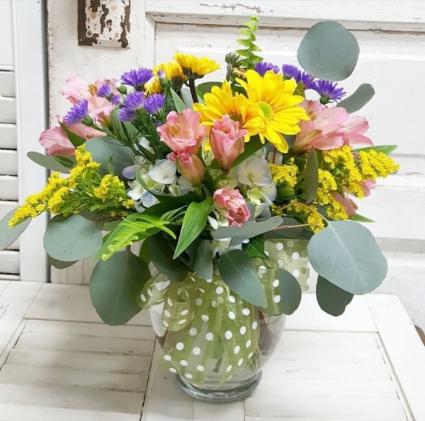 A Small World Vase Arrangement