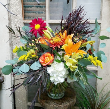 Pumpkin Pie Vase Arrangement
