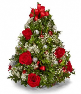 A Very Merry Christmas Tree Holiday Arrangement