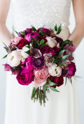 A vibrant variety of purple  Bouquet