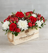 A Vineyard Holiday Christmas Centerpiece with a Hint of