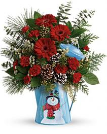 A Vintage Snowman Bouquet