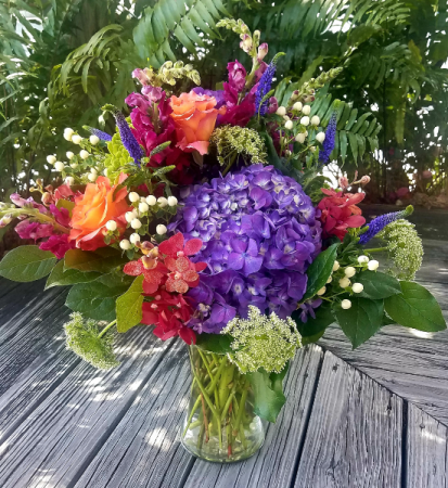 A Walk In The Garden Fresh Vased Arrangement
