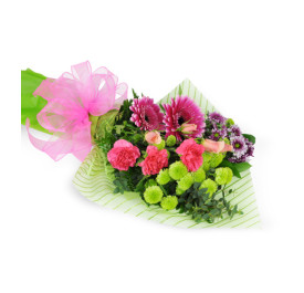 Springy Mixed Flowers Wrapped