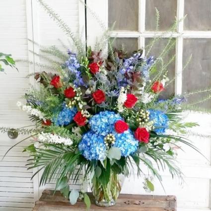 Let Freedom Ring Vase Arrangement