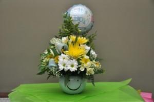 (AB) Happy Baby Boy Flower Arangement  in Medicine Hat, AB | AWESOME BLOSSOM