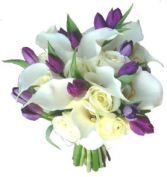 CALLAS, TULIPS & IVORY ROSES