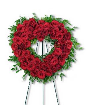 Abiding Love Heart Sympathy in Nevada, IA | Flower Bed