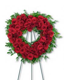 Abiding Love Heart Sympathy Arrangement