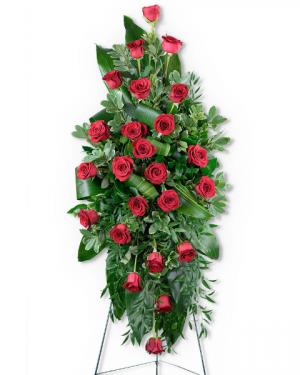 Abiding Love Standing Spray Sympathy in Nevada, IA | Flower Bed