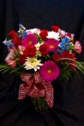 Abundance of Love Roses and mixed flowers