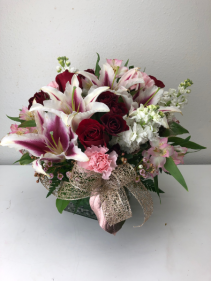 Abundances of Love Roses Lily Romance Mix