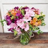 Abundant Alstro Vase Arrangement