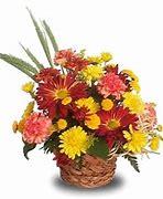 Abundant Autumn Basket Flower Basket