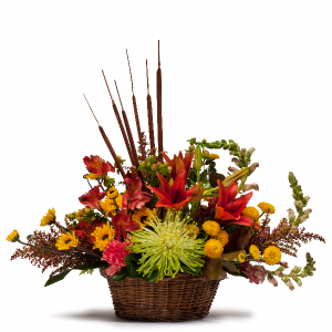 Abundant Basket in Swannanoa, NC | The Asheville Florist