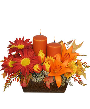 Abundant Beauty Fall Centerpiece in Lexington, NC | RAE'S NORTH POINT FLORIST INC.