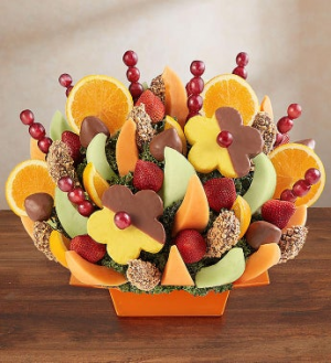 Abundant Fruit & Chocolate Tray Fruit Bouquet in Brooklyn, NY | FLORAL FANTASY