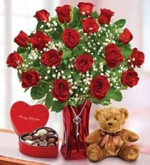 Abundant Love Premium 18 red roses