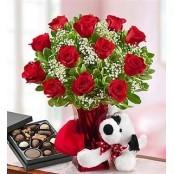 Abundant Love Roses, Candy, Plush