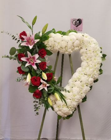 Accented Heart Standing Spray  Funeral