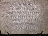 Ache with sadness Memorial Plaque on stand