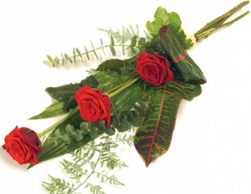 A CLASSIC & ELEGANT 3 RED         ROSES GIFT WRAP