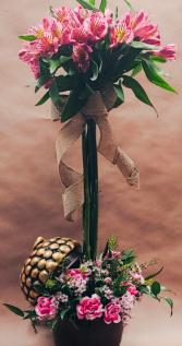 Acorn Alstromeria Topiary Fall Arrangement