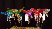 Acrylic Hummingbird Plant Stake Assorted Colors 11