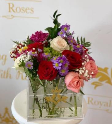 Acrylic Mix Roses Acrylic Box
