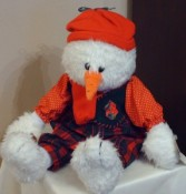 Add on Plush Snowman 2598 (Houston only) Christmas