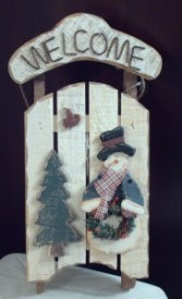 Add on Sleigh Door Ornament 2602 (Houston only) Christmas
