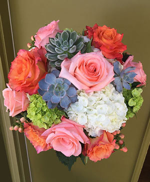 Adorable Aesthetic Bouquet with Succulents in Ozone Park, NY | Heavenly Florist