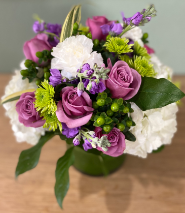 ADORABLE PURPLE ELEGANT AND MIXTURE FLOWERS