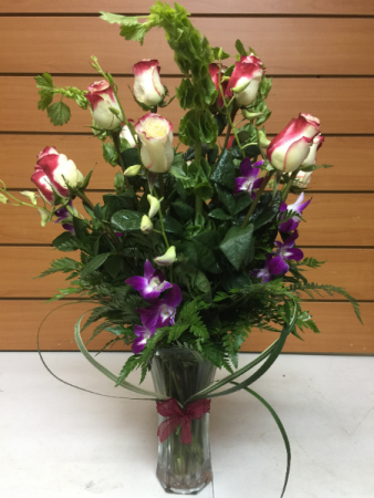 Adorable Roses and Orchids Romance