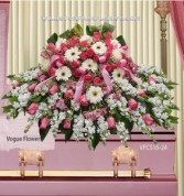 Adoration and Compassion Sympathy Casket Spray