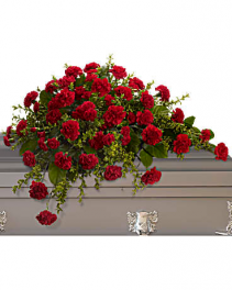 Adoration Casket Spray Funeral Flowers