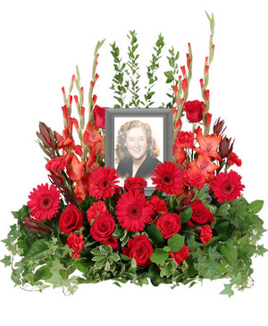 Adoration Memorial Flowers  (frame not included)  in Solana Beach, CA | DEL MAR FLOWER CO