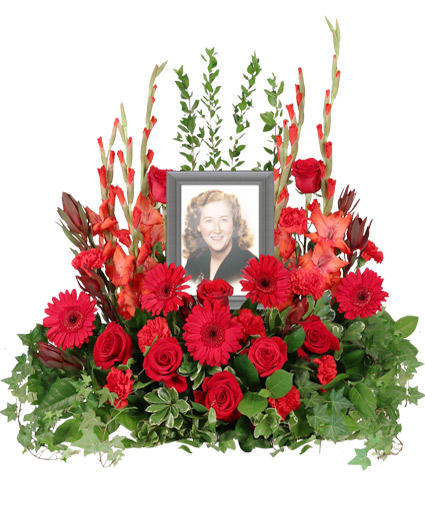 Adoration Memorial Flowers  (frame not included)