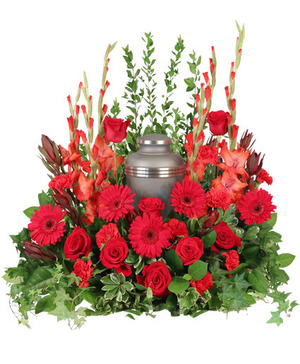 Adoration Urn Cremation Flowers (urn not included) in Nevada, IA | Flower Bed