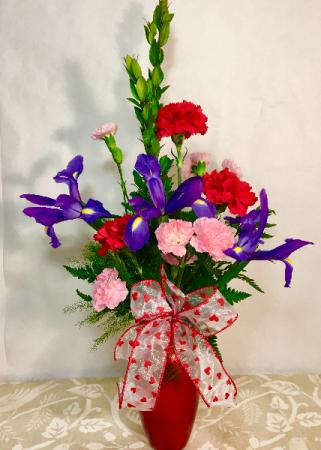 Adore You! Glitzy Red Vase