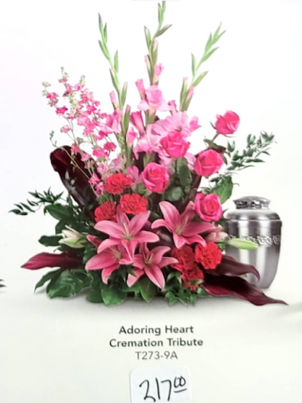 Adoring Heart Cremation Tribute