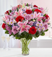 Adoring Love Bouquet Vase Arrangement