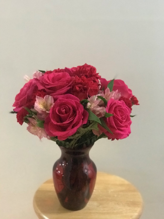 Adoring you Red vase arrangement