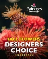 Adrienes Fall Flowers Designers Choice