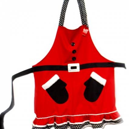 Adult Santa's mittens apron