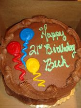 "Double 8"" layer CHOCOLATE  cake with CHOCOLATE  BUTTERCREAM ICING. NEED 30 HOUR NOTICE FOR DELIVERY."