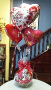 Afloat in Love Balloon Bouquet and Chocolate Goodie Basket